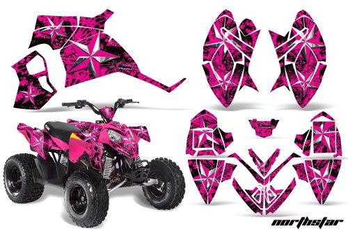 AMRRACING Polaris Outlaw 90 All Years Full Custom ATV Graphics Decal Kit - Northstar Pink