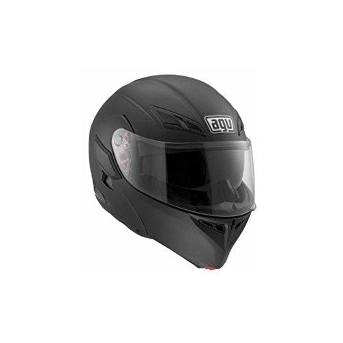 AGV Numo Solid Helmet  Gender MensUnisex Helmet Type Modular Helmets Helmet Category Street Distinct Name Flat Black Primary Color Black Size XL 100154C0002010