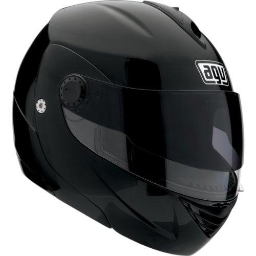 AGV Solid Miglia Modular II Street Bike Motorcycle Helmet - Black  Medium