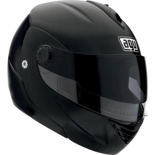 AGV Solid Miglia Modular II Street Bike Motorcycle Helmet - Flat Black  Large