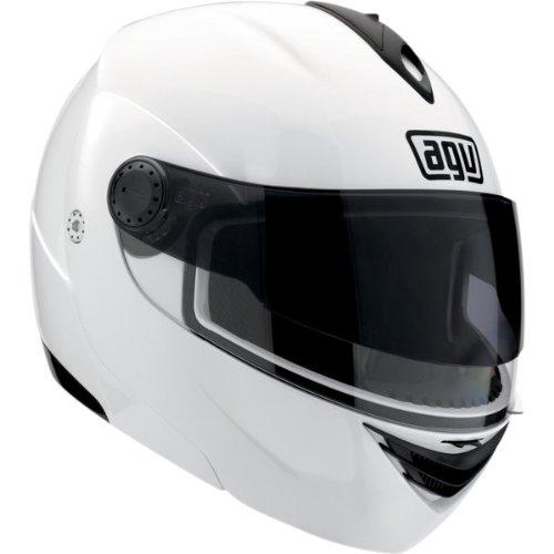 AGV Solid Miglia Modular II Street Bike Motorcycle Helmet - White  Large