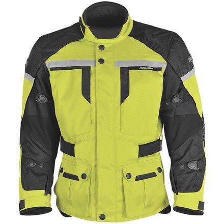 Pilot Mens TransUrban Motorcycle Touring Jacket Hi-VisBlack Large