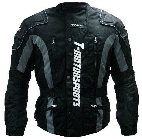 TMS Enduro Armor Jacket Motorcycle Touring Dual Sport Dirt Bike ATV Large Black