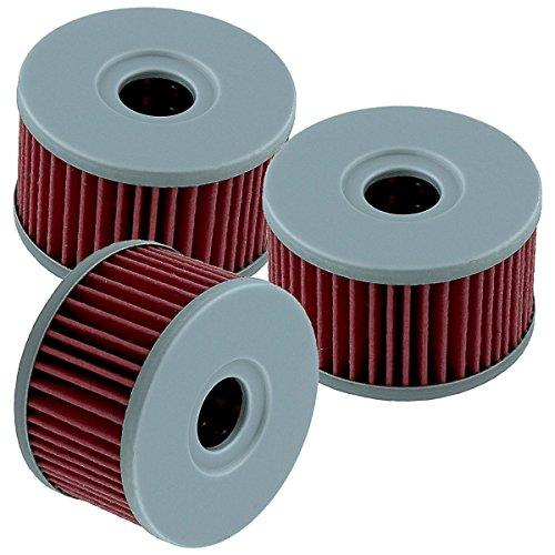 Caltric 3 PACK Oil Filter Fits SUZUKI SP500 SP600 DS650 XF650 FREEWIND GSX750 LS650 SAVAGE