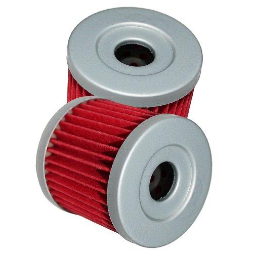 Caltric Oil Filter Fits Fits SUZUKI LTZ400 LT-Z400 LT-Z400 QUAD SPORT 2003 2004 2005 06 07 08 2009 2-PACK