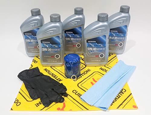 Honda Genuine 5W-30 Full Synthetic Oil Change Kit wA02 Filter Drain Washer