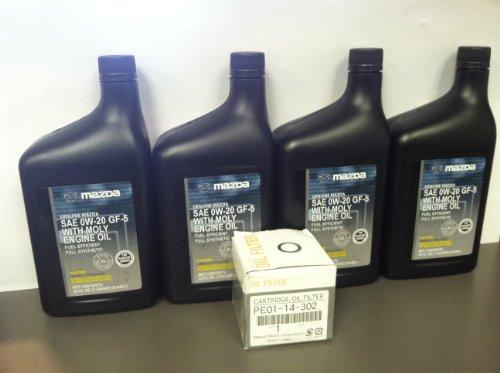 MAZDA SKYACTIV 4-QT FULL SYNTHETIC OIL CHANGE KIT WDRAIN PLUG GASKET