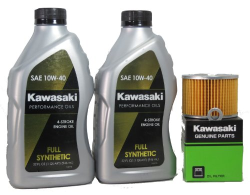 2012 Kawsaki EX250JCFA Ninja 250R Full Synthetic Oil Change Kit