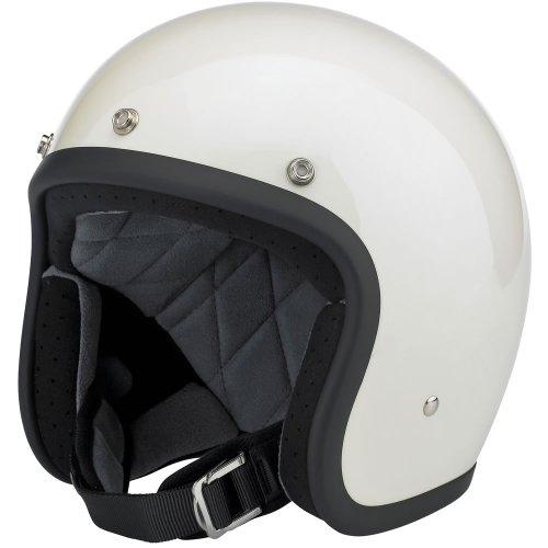 Biltwell Bonanza Helmet - Gloss Vintage White Small