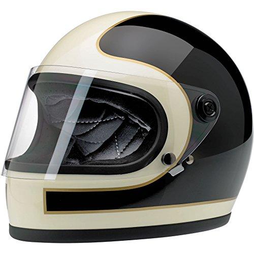 Biltwell Gringo S Le Tracker Helmet Gloss BlackVintage White Large