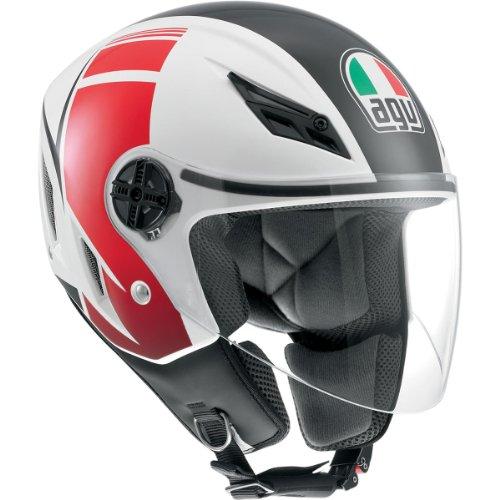 AGV Blade FX Helmet  Distinct Name FX WhiteRed Gender MensUnisex Helmet Category Street Helmet Type Open-face Helmets Primary Color Red Size Md 042152A0006007