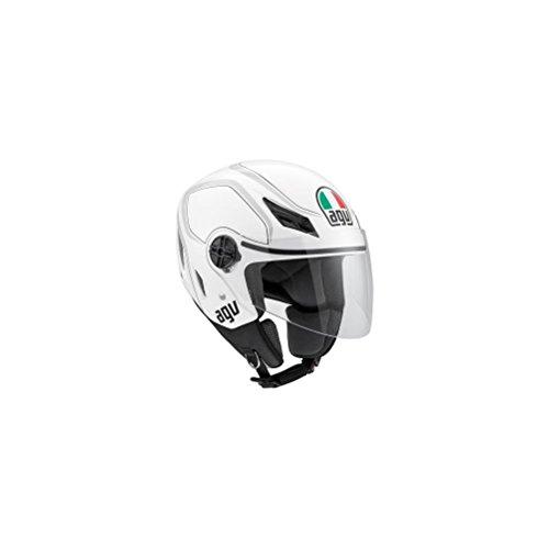 AGV Blade Tab Helmet  Distinct Name WhiteGray Gender MensUnisex Helmet Category Street Helmet Type Open-face Helmets Primary Color White Size Sm 042152A0010005