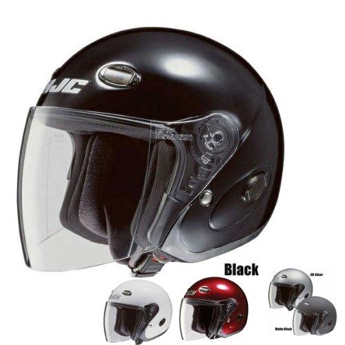 HJC CL-33 Open-Face Motorcycle Helmet Black X-Large