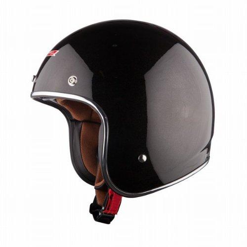 LS2 Helmets OF583 Bobber Solid Open Face Helmet Black Large