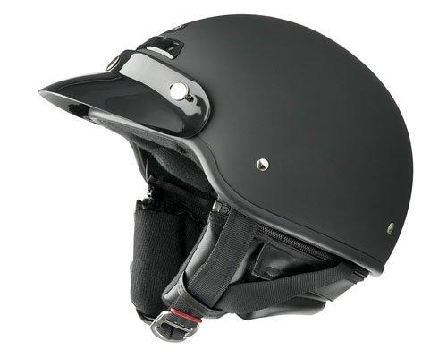 Raider Deluxe Open Face Helmet Flat Black Medium