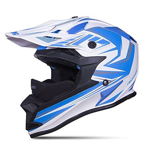 2016 509 Altitude Skyway Blue Open Face Snowmobile Snocross Helmet Dot & Ece Sizes S-4xl