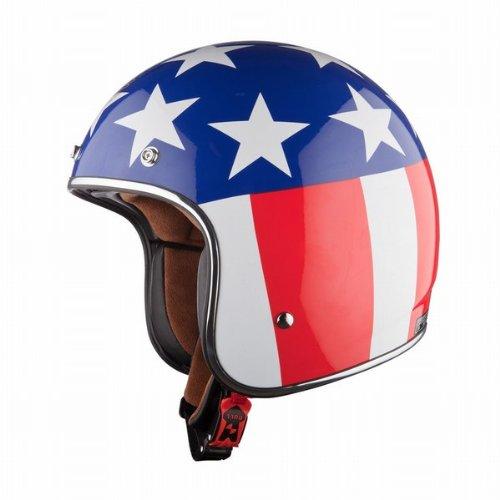 Ls2 Of583 Bobber Easy Rider Open Face Helmet (red/white/blue, X-small)