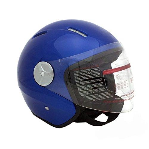 Motorcycle Scooter Pilot Open Face Helmet Dot Blue (medium)