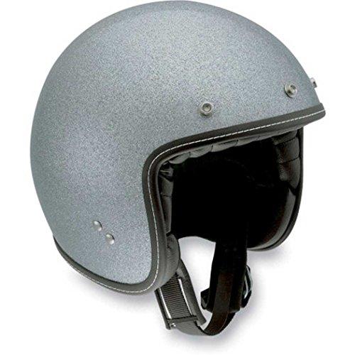 AGV RP60 Mono Open Face Motorcycle Helmet Metal Flake Silver MDMedium 110154C00