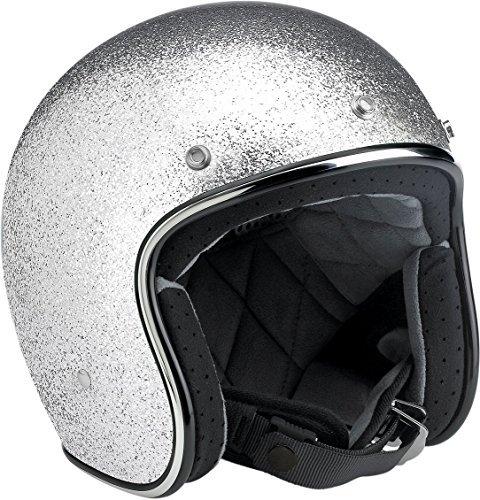 Biltwell Bonanza Open Face Helmet Silver Large
