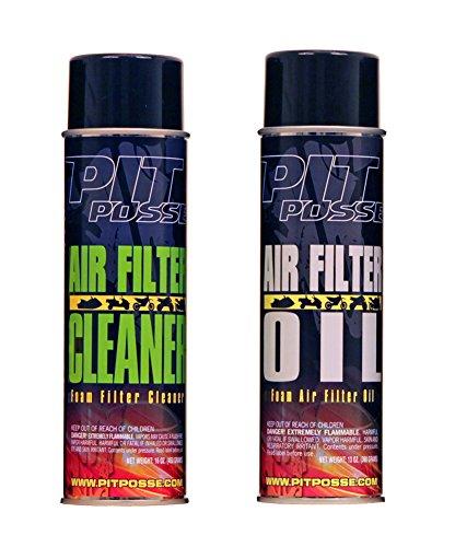 Pit Posse Foam Air Filter Cleaner Oil Combo Maintenance Kit Aerosol Motorcycle ATV 1 of each