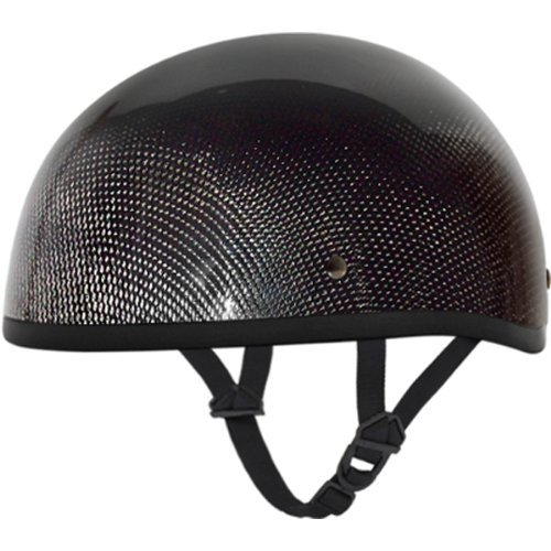 Daytona Carbon Fiber without Visor DOT Approved 12 Shell Harley Touring Motorcycle Helmet - Grey  Large