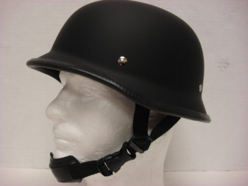 Size XL Motorcycle Biker Cruiser Novelty Matte black German Helmet Softail Touring