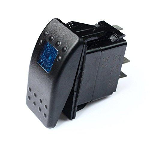 20 Amp Blue Light Rocker Switch Kit Dash 3pin 12V SR1000BLPFBA - Universal