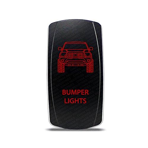 CH4x4 Rocker Switch Bumper Lights Symbol - Red LED