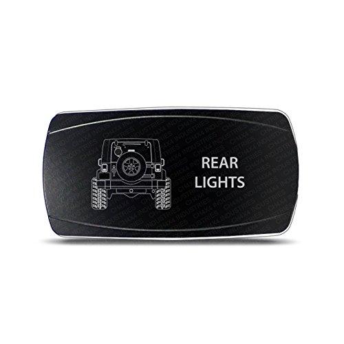 CH4x4 Rocker Switch Jeep Wrangler JK Rear Lights Symbol – Horizontal - White LED