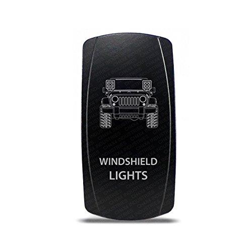 CH4x4 Rocker Switch Jeep Wrangler JK Windshield Lights Symbol - White LED