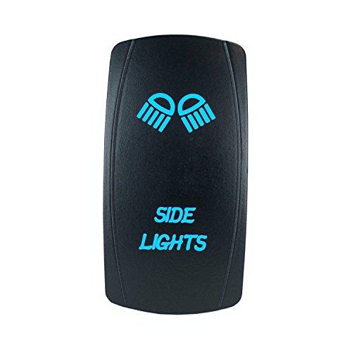 Laser Rocker Switch Backlit SIDE LIGHTS12V Bright Light Powersports Blue