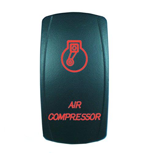 Red Laser Rocker Switch Backlit AIR COMPRESSOR 12V Bright Light Powersports SLR1133BLPFBA