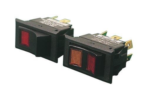 Sea Dog 420251-1 Illuminating Rocker Switch OnOff  Red Lens