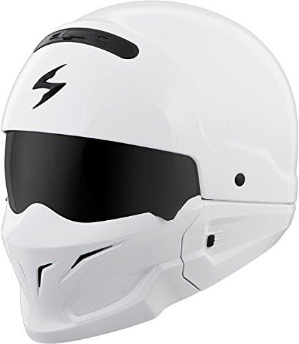Scorpion Covert Open-Face Solid Helmet Gloss Street Bike Motorcycle Helmet - White  Small