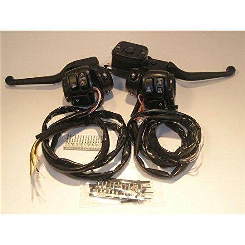 Black 96-up Handlebar control Kit 1116inch MC Cable Dual Disc