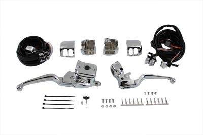 V-Twin 22-0822 - Smooth Contour Handlebar Control Kit Chrome