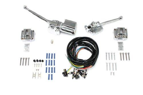 V-Twin 26-2185 Handlebar Control Kit Chrome