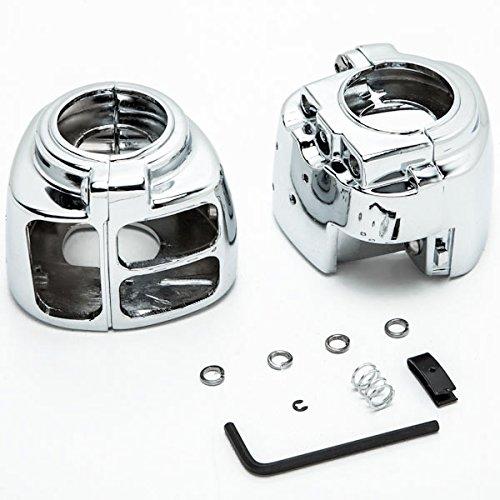 Krator Chrome Handlebar Switch Housings Control Cover Kit For 2000-2005 Harley Davidson Sportster