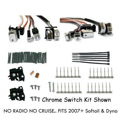 LED Chrome Handlebar Switch Kit for 2007 Harley Softail Dyna Models C01052473