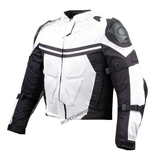 PRO MESH MOTORCYCLE JACKET RAIN WATERPROOF WHITE M