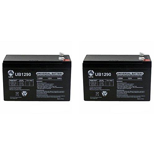 12V 9AH Sealed Lead Acid Deep Cycle Battery AGM 1 Year Warranty - 2 Pack