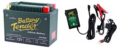 BTL24A360C Lithium 12V 360 CCA  Battery Tender Junior 800 022-0199-DL-WH Combo