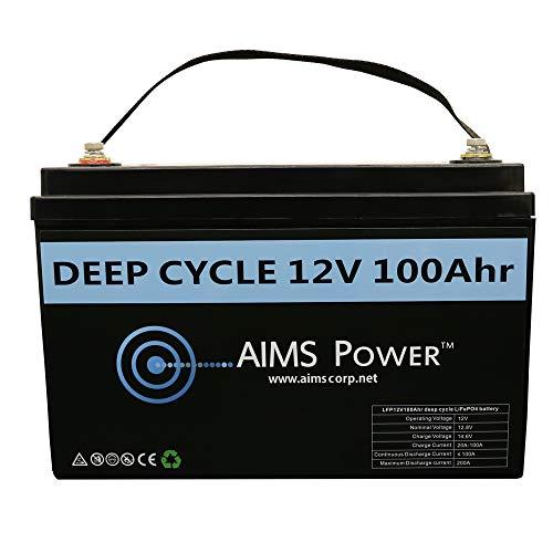 AIMS Lithium Battery 12V 100Ah LiFePO4