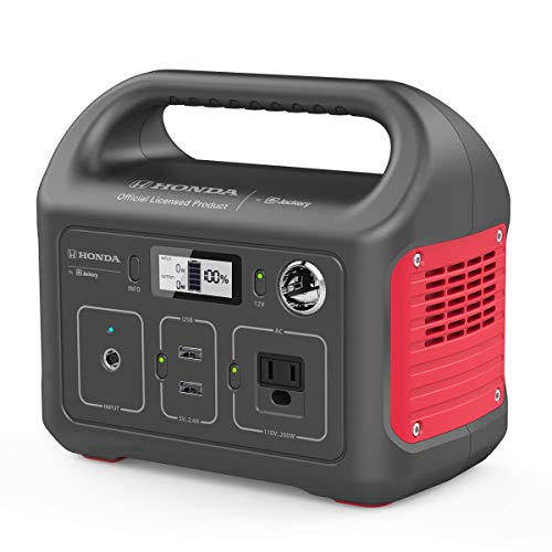 Honda by Jackery HLS 290 Portable Lithium Battery Mobile Power Station Emergency Power Pack and External Battery Charger Gas-Free Generator Alternative Honda Official Licensed Product by Jackery
