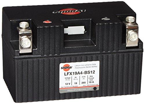 Shorai LFX Lithium Battery 19AH 12V EQ ldquoA&rdquo 4 LFX19A4-BS12