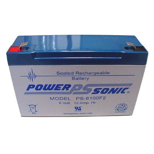 Power-Sonic 6V12AH Sealed Lead Acid Battery w F2 Terminal