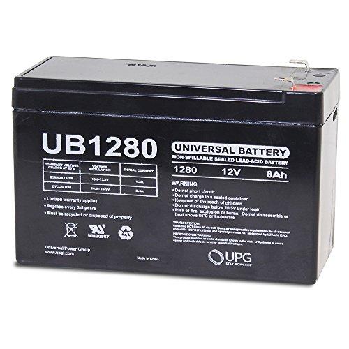 Universal UB1280 UB1280 12V 8AH Sealed Lead Acid Battery F1 187 TT