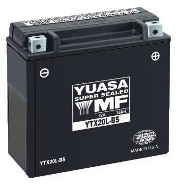 Yuasa Battery YT14B-BS YUASA BATTERY Batteries Maint Free VRLA Battery - YUAM624B4