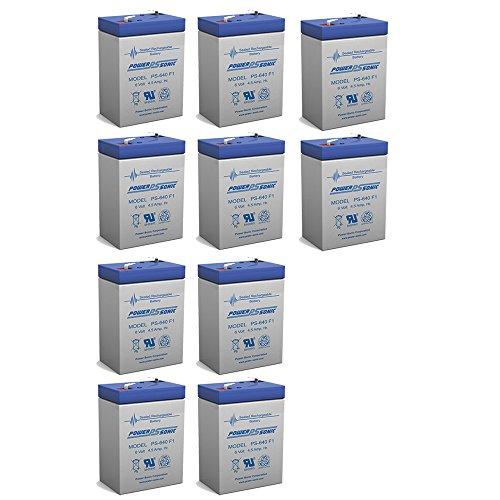 6 Volt Battery 6V 45AH Replacement for MK ES4-6 - 10 Pack